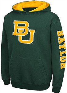 Youth Baylor Bears Green Screened Zone Pullover Hoodie Sweatshirt