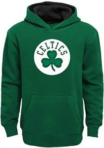 Youth Boston Celtics Primary Logo Tackle Twill Applique Hoodie Sweatshirt