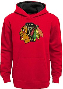 Youth Chicago Blackhawks Red Primary Embroidered Red Hoodie Sweatshirt
