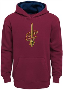 Youth Cleveland Cavaliers Garnet Primary Tackle Twill Hoodie Sweatshirt