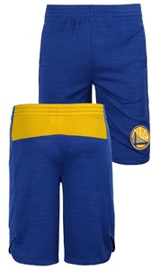 Youth Golden State Warriors NBA Blue Free Throw Shorts