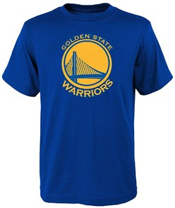 Youth Golden State Warriors Royal Primary Logo Short Sleeve T Shirt on Sale