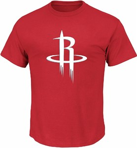 Youth Houston Rockets Red Primary Logo Short Sleeve T Shirt on Sale