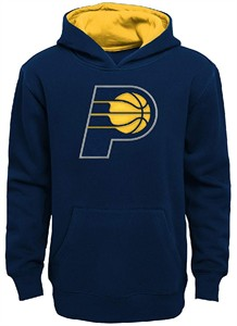 Youth Indiana Pacers Blue Primary Logo Tackle Twill Applique Hoodie Sweatshirt