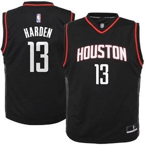 dad684227 Youth James Harden Houston Rockets Black Alternate Replica Basketball Jersey