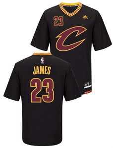 Youth LeBron James Adidas Pride Black Short Sleeve Replica Basketball Jersey