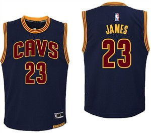 Youth LeBron James Cleveland Cavaliers Outerstuff Navy Replica Basketball  Jersey  a50c01dcb