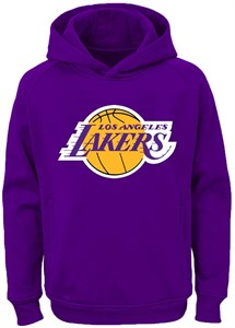 timeless design aba2f 822dd Youth Los Angeles Lakers Primary Logo Tackle Twill Applique Hoodie  Sweatshirt   NBA Sweatshirts By Adidas Majestic