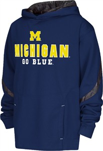 Youth Michigan Wolverines Cutter Embroidered Synthetic Hoodie Sweatshirt