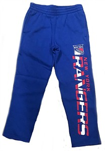Youth New York Rangers Royal Post Practice Open Bottom Sweatpants