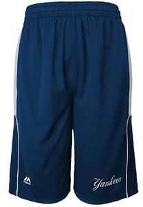 Youth New York Yankees Blue Batters Choice Synthetic Shorts by Majestic