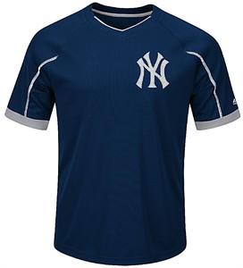 Youth New York Yankees Navy Emergence Synthetic V Neck Jersey Tee