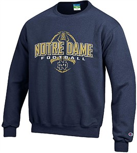Youth Notre Dame Fighting Irish  Football Powerblend Screened Crew Sweatshirt