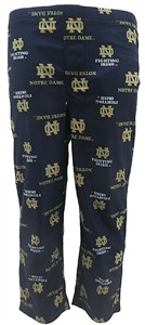 Youth Notre Dame Fighting Irish All Over Logos Synthetic Pajama Pants on Sale