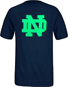 Youth Notre Dame Fighting Irish Navy Primary Logo T Shirt