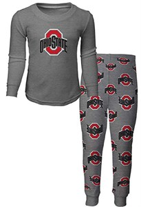 Youth Ohio State Buckeyes Sleepwear Long Sleeve Tee & Pants Set
