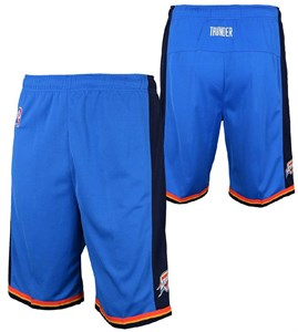 Youth Oklahoma City Thunder Blue Replica Basketball Shorts By Outerstuff
