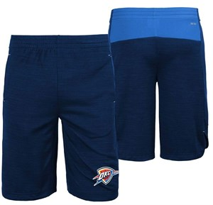 Youth Oklahoma City Thunder NBA Navy Free Throw Shorts