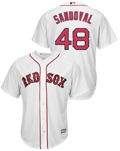 8b523f048 Youth Pablo Sandoval Boston Red Sox Cool Base White Tackle Twill Baseball  Jersey