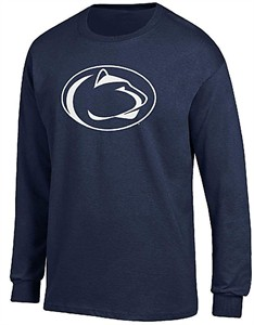Youth Penn State Nittany Lions Blue Team Logo Long Sleeve T Shirt