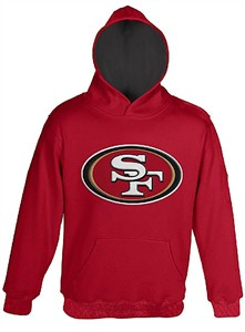 d9b41a6c Youth San Francisco 49ers Red Primary Embroidered Hoodie Sweatshirt ...