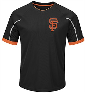Youth San Francisco Giants Black Emergence Synthetic V Neck Jersey Tee