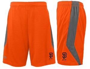 Youth San Francisco Giants Orange Synthetic Baseball Shorts