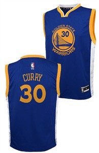 Youth Stephen Curry Golden State Warriors Replica Basketball Jersey