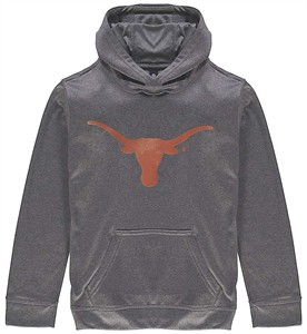 Youth Texas Longhorns Charcoal Silhouette Synthetic  Hoodie Sweatshirt by 289c