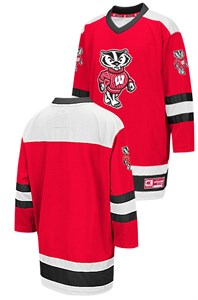 lowest price 1aa33 da9ec Youth Wisconsin Badgers Athletic Machine Enbroidered Hockey ...